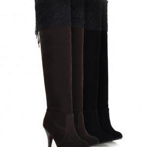 2015 new fashion over the knee boot..