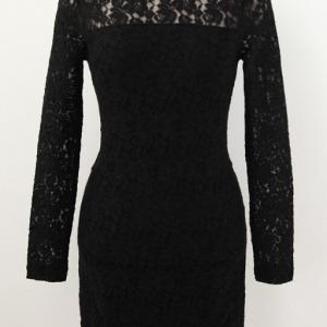 Sexy And Elegant Long Sleeve Black ..