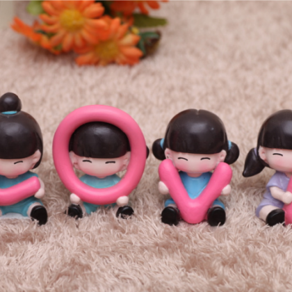 Love adorable doll resin decoration..