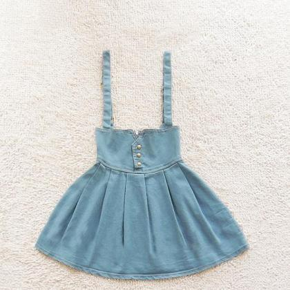 High Waist Retro Fashion Denim Skir..