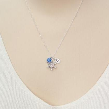 Crystal Snowflake Necklace Personal..