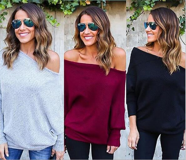 Sexy Strapless Bat Sleeve Knit Top