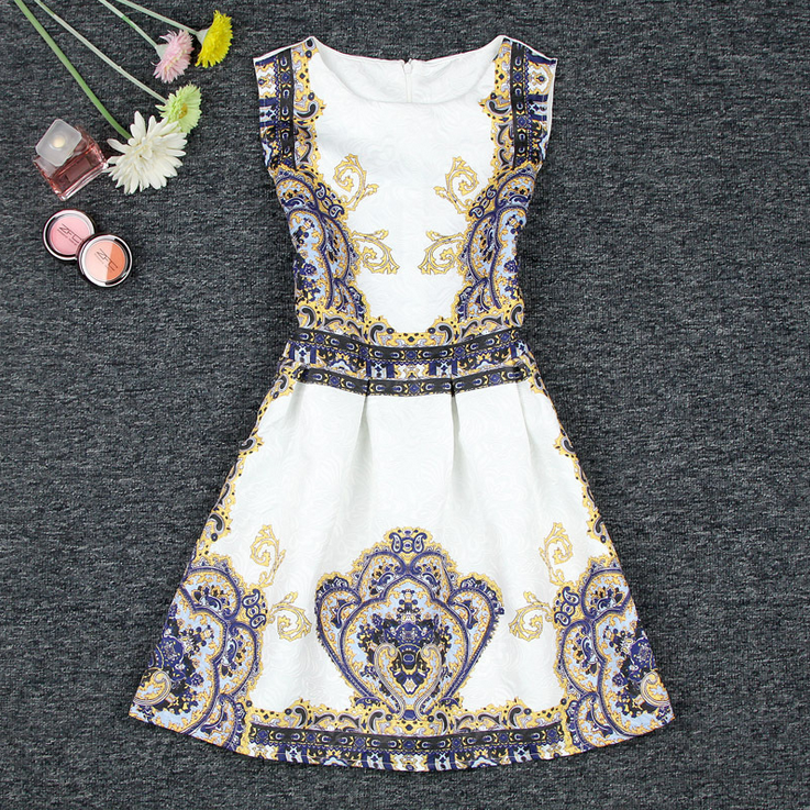 2015 European printing restoring ancient ways dress