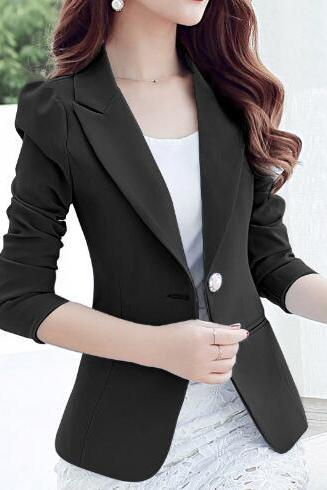 Fashion Wave Point Suit Jacket