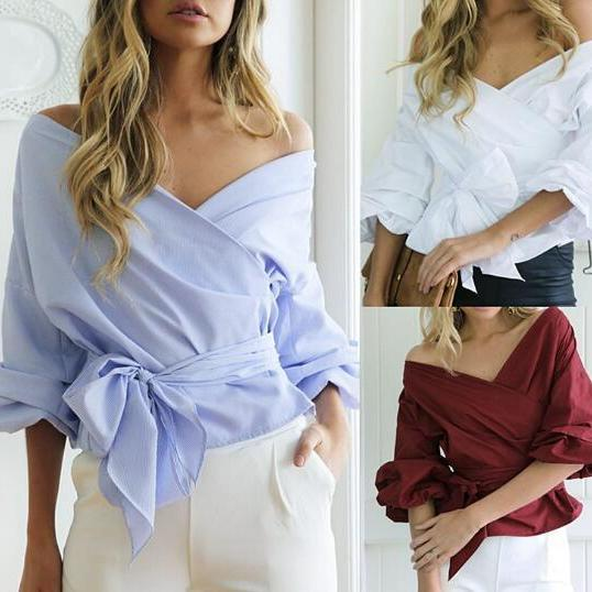 Sexy strapless V-neck cross strappy shirt jacket