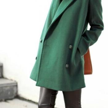 Female money 2014 qiu dong outfit woolen cloth coat thick cloth coat big yards in the loose long coat dress