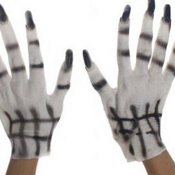 Halloween props masquerade party supplies ghost clothing accessories white ghost glove 200g