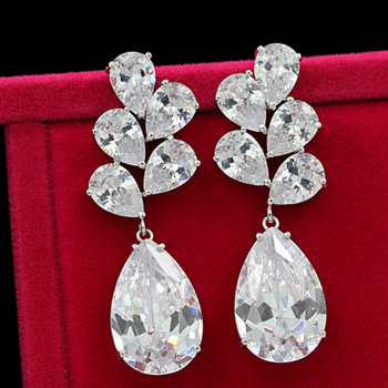 The high-end luxury crystal full drill exaggerated big earrings female models