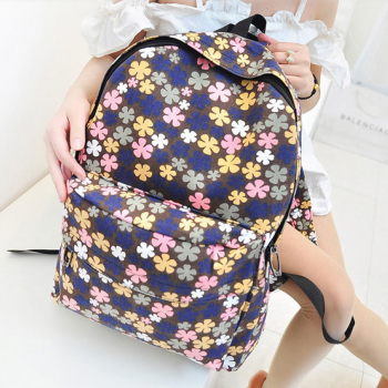 Fresh Cute College Style Floral Backpack