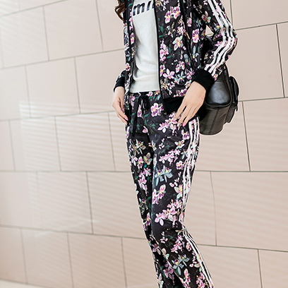 The 2015 European new suit sportswear autumn roses