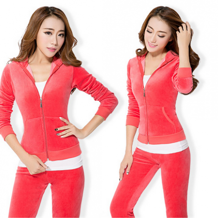 2015 early winter the new suit large size women students leisure sportswear yoga three piece Sweater Girl