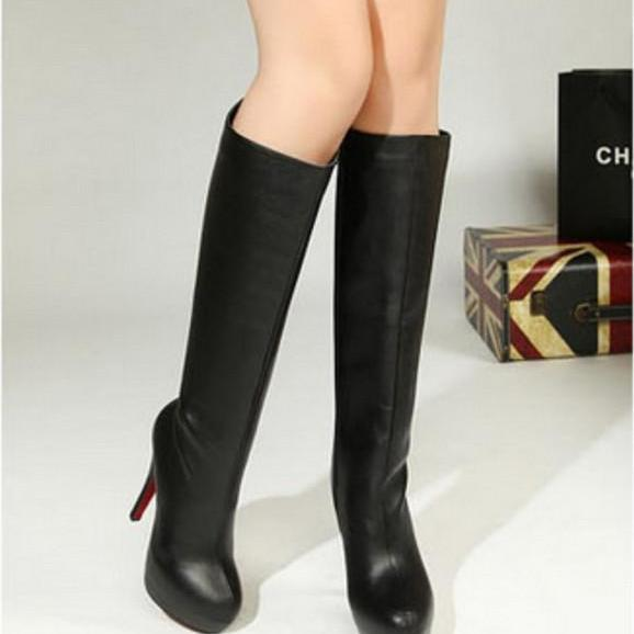 Fashion sexy nightclub ultra with waterproof Taiwan retro minimalist Pedicure significantly thin boots