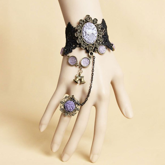 Personality Bell Bracelet Even One Chain Ring Female Exaggerated Accessories