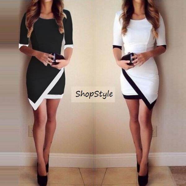 Bandage Bodycon Asymmetric Evening Sexy Party Cocktail Mini Dress