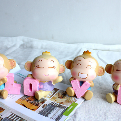 LOVE resin monkey expression of love a special gift