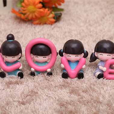 Love adorable doll resin decoration office decoration a special gift to pass love