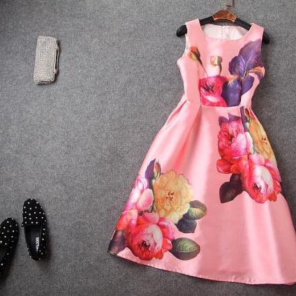 2015 fashion flower dress dress