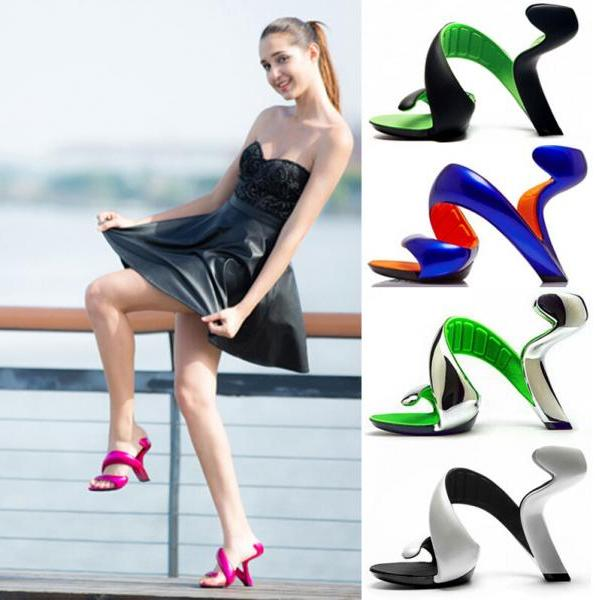 Fashion And Personality Peep-Toe Hollow-Out The Stiletto Sandals